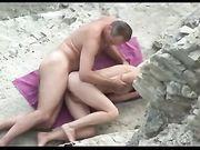 Sex im Freien am Strand